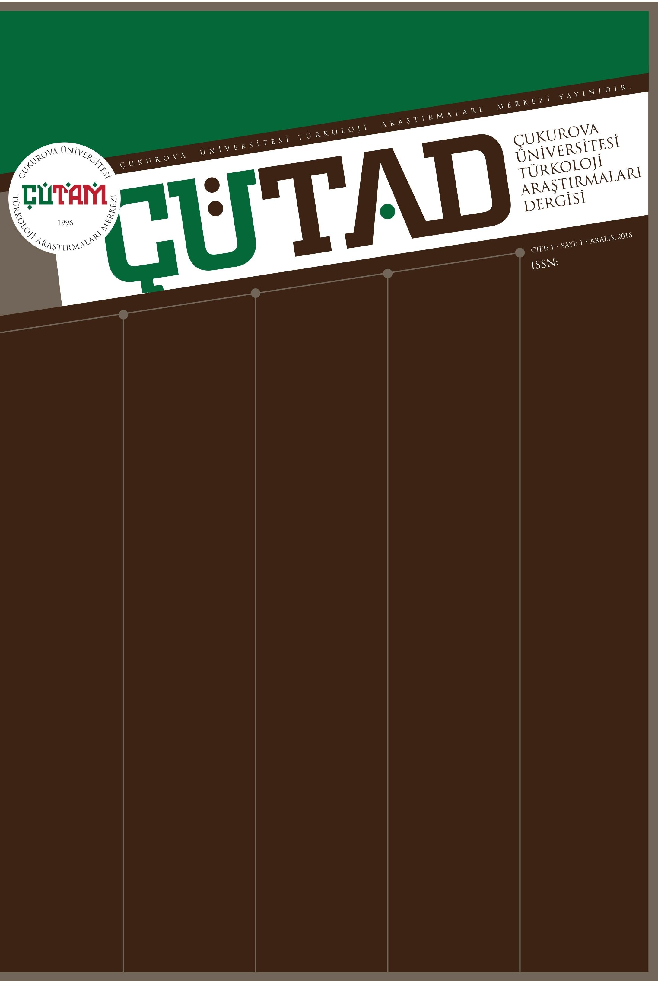 Çukurova Üniversitesi Türkoloji Araştırmaları Dergisi