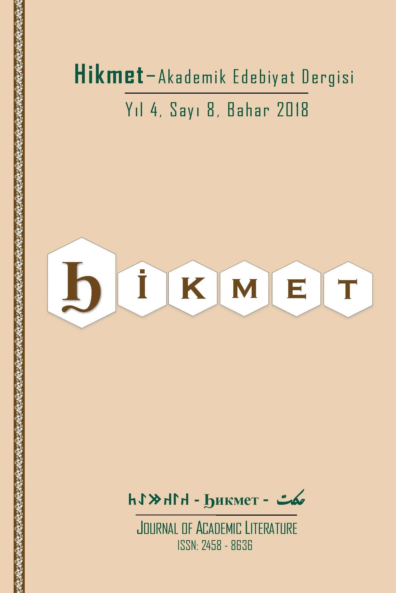 Hikmet-akademik edebiyat dergisi (Online)