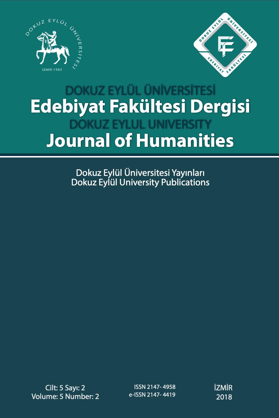 Dokuz Eylül Üniversitesi Edebiyat Fakültesi Dergisi